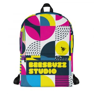 """Backpack """"Colorful shapes"""" high quality"""